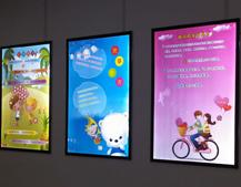 Wall Mount Aluminum Lightbox Display